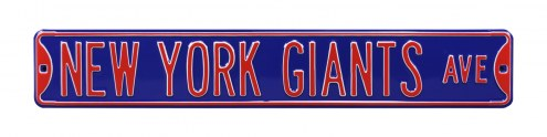 New York Giants NFL Authentic Street Sign