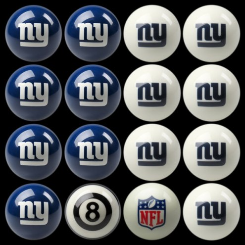 New York Giants NFL Home vs. Away Pool Ball Set