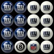 New York Giants NFL Home vs. Away Pool Ball Set