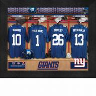New York Giants NFL Personalized Locker Room 11 x 14 Framed Photograph b2746f1ac