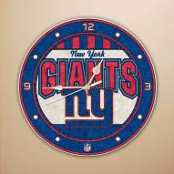 New York Giants NFL Stained Glass Wall Clock