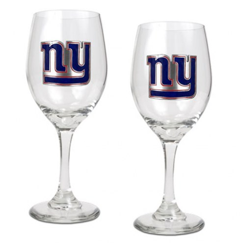 New York Giants NFL Wine Glass - Set of 2