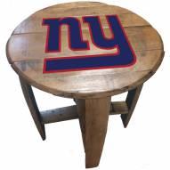 New York Giants Oak Barrel Table