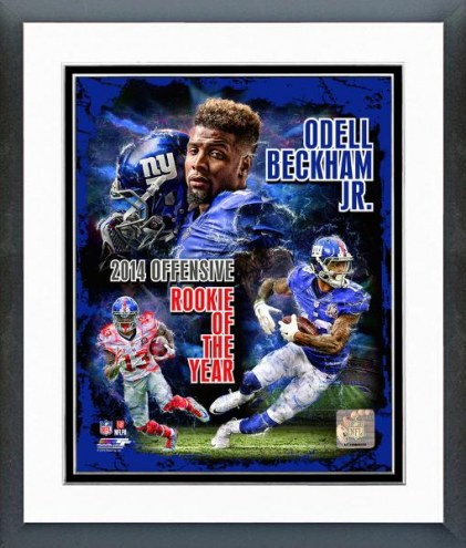 New York Giants Odell Beckham Jr. NFL Offensive Rookie Of The Year Framed Photo