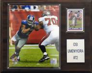 "New York Giants Osi Umenyiora 12 x 15"" Player Plaque"