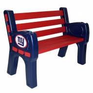 New York Giants Park Bench