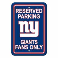 New York Giants Parking Sign