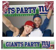 New York Giants Party Banner