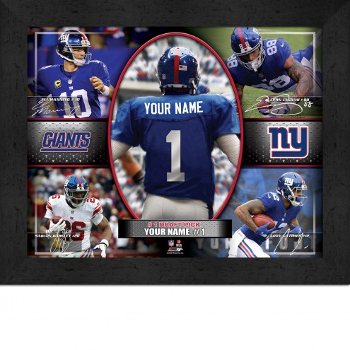 New York Giants Personalized 11 x 14 Framed Action Collage