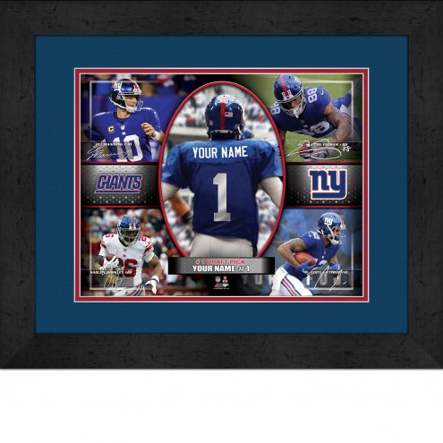 New York Giants Personalized 13 x 16 Framed Action Collage