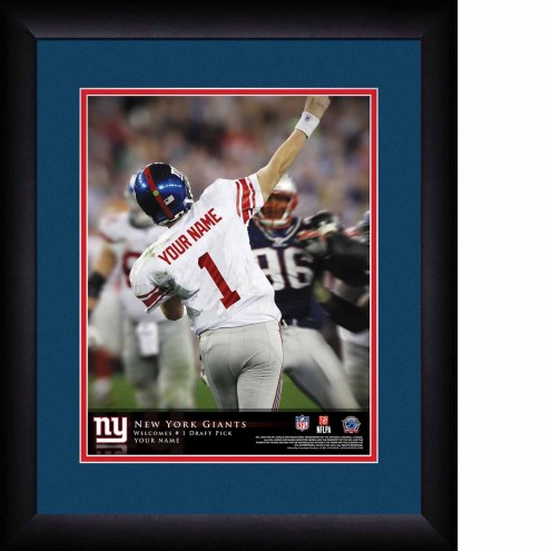 New York Giants Personalized 13 x 16 NFL Action QB Framed Print