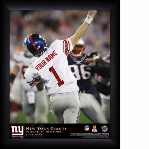 New York Giants Personalized 11 x 14 NFL Action QB Framed Print
