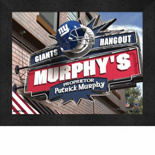 New York Giants Personalized Framed Sports Pub Print