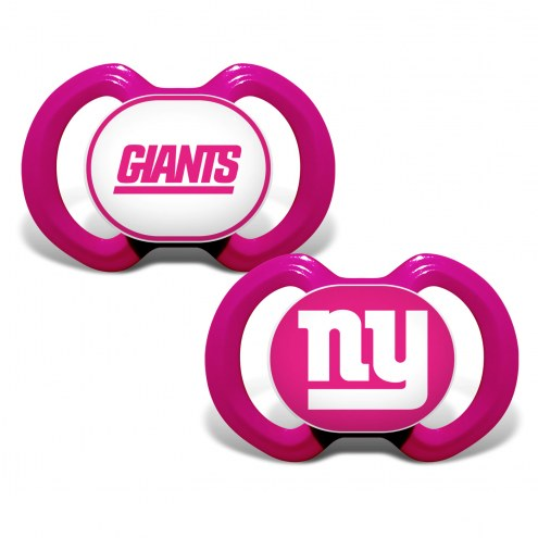 New York Giants Pink Baby Pacifier 2-Pack