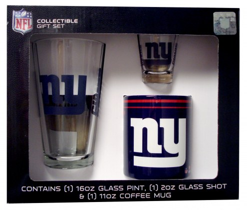 New York Giants Pint, Shot, Coffee Mug Set