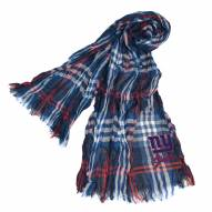 New York Giants Plaid Crinkle Scarf