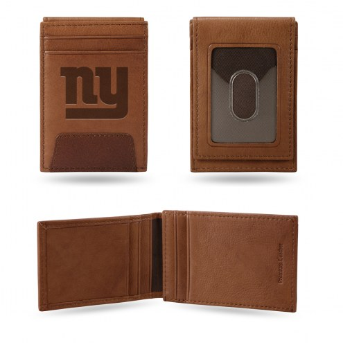 New York Giants Premium Leather Front Pocket Wallet