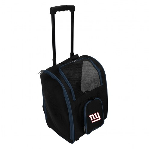 New York Giants Premium Pet Carrier with Wheels