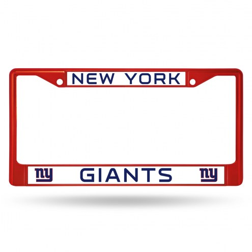 New York Giants Red Colored Chrome License Plate Frame