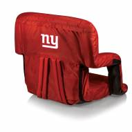 New York Giants Red Ventura Portable Outdoor Recliner
