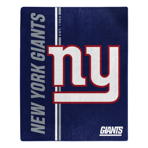 New York Giants Restructure Raschel Blanket