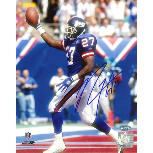"New York Giants Rodney Hampton TD Celebration Signed 16"" x 20"" Photo"