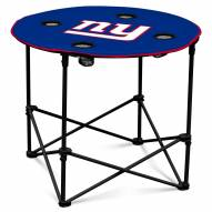 New York Giants Round Folding Table