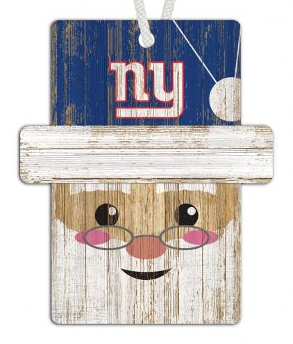 New York Giants Santa Ornament