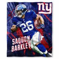 New York Giants Saquon Barkley Silk Touch Blanket