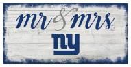 New York Giants Script Mr. & Mrs. Sign
