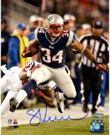 New York Giants Shane Vereen Close Up Running with Ball Signed 8 x 10 Photo