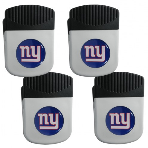 New York Giants 4 Pack Chip Clip Magnet with Bottle Opener