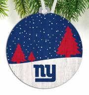 New York Giants Snow Scene Ornament