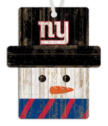 New York Giants Snowman Ornament