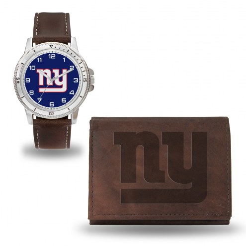New York Giants Sparo Men's Niles Watch & Wallet Set