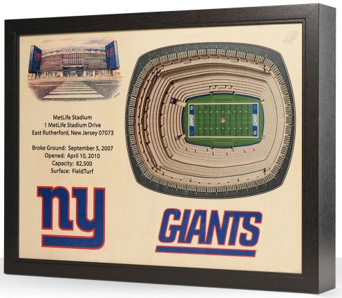 New York Giants 25-Layer StadiumViews 3D Wall Art