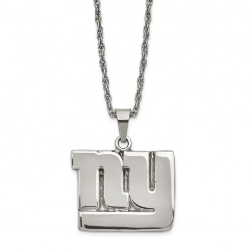 New York Giants Stainless Steel Pendant on Chain
