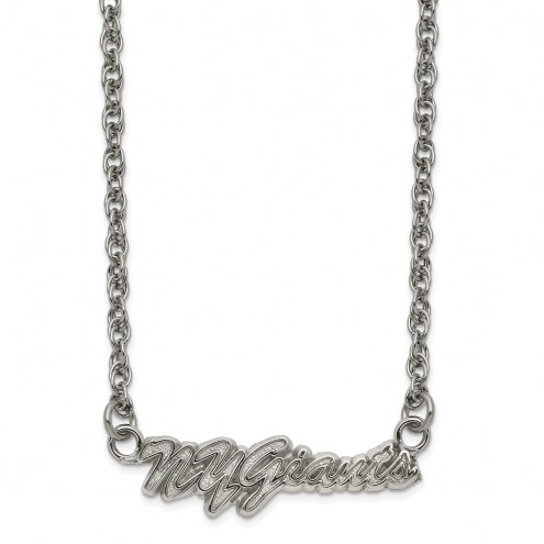 New York Giants Stainless Steel Script Necklace
