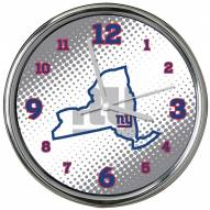 New York Giants State of Mind Chrome Clock