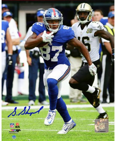 """New York Giants Sterling Shepard Signed 16"""" x 20"""" Photo"""