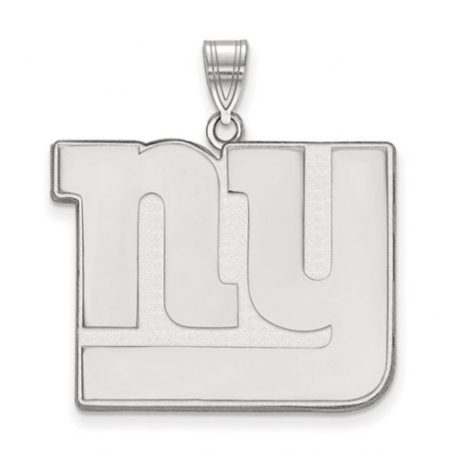 New York Giants Sterling Silver Extra Large Pendant