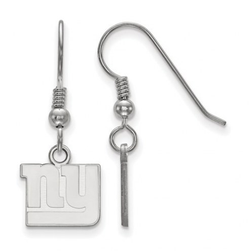 New York Giants Sterling Silver Extra Small Wire Dangle Earrings