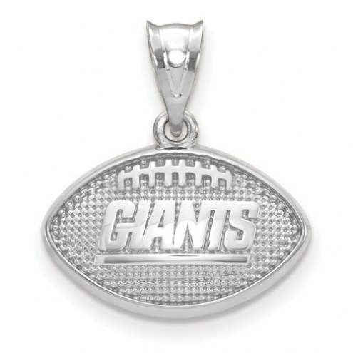 New York Giants Sterling Silver Football with Logo Pendant