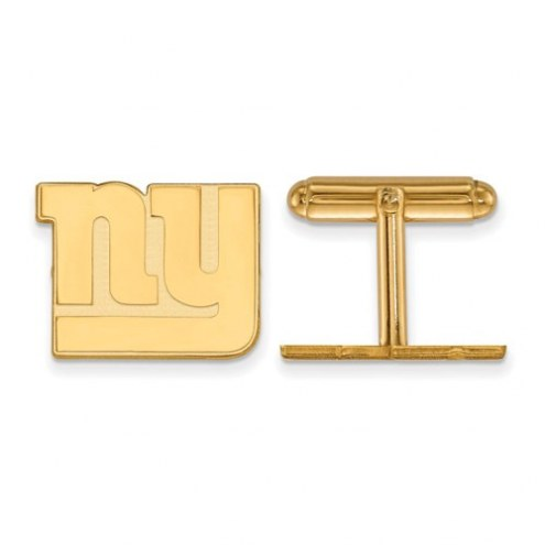 New York Giants Sterling Silver Gold Plated Cuff Links