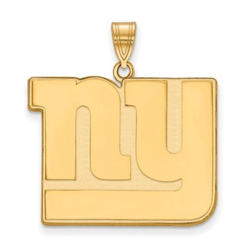 New York Giants Sterling Silver Gold Plated Extra Large Pendant