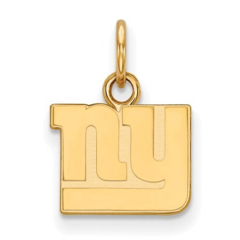 New York Giants Sterling Silver Gold Plated Extra Small Pendant