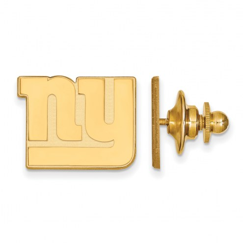 New York Giants Sterling Silver Gold Plated Lapel Pin