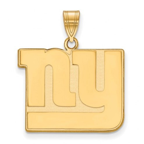 New York Giants Sterling Silver Gold Plated Large Pendant