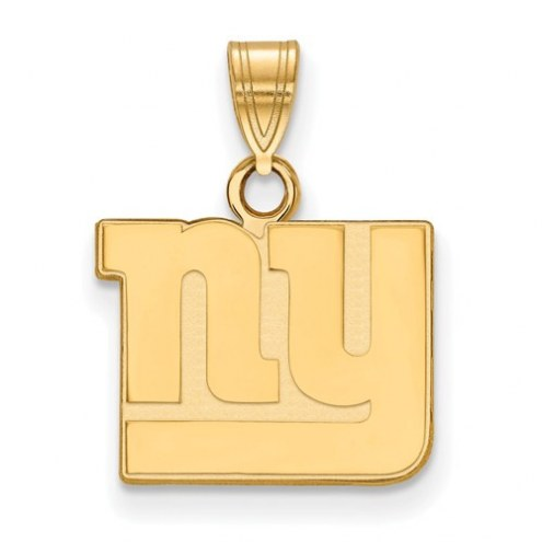 New York Giants Sterling Silver Gold Plated Small Pendant