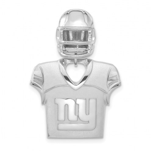 New York Giants Sterling Silver Jersey & Helmet Pendant